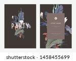 event invitation card template... | Shutterstock .eps vector #1458455699