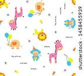 vector cartoon illustration of  ... | Shutterstock .eps vector #1458455939