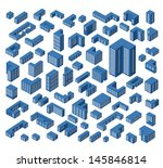 a large set of vector isometric ... | Shutterstock .eps vector #145846814