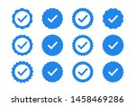 set of quality icons. blue flat ... | Shutterstock .eps vector #1458469286