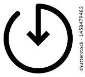 outline arrow icon. editable...