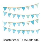 blue bunting  design elements...   Shutterstock .eps vector #1458484436