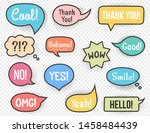 hand drawn speech bubbles with...   Shutterstock .eps vector #1458484439