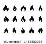 fire flame logo vector... | Shutterstock .eps vector #1458503033