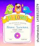 certificate kids diploma ... | Shutterstock .eps vector #1458515579