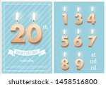 burning number 20 birthday... | Shutterstock .eps vector #1458516800