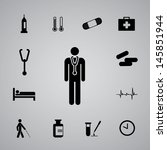 bed,black,blood,capsule,case,doctor,drug,fever,first aid,grey,heart,heart disease,heart rate,hospital,icon