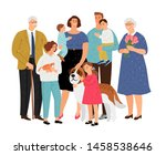big family. father and mother ... | Shutterstock .eps vector #1458538646