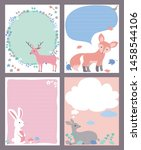 useful children's notes  cute... | Shutterstock .eps vector #1458544106