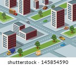 isometric vector image of a... | Shutterstock .eps vector #145854590