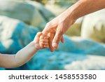 beautiful hands of parent and... | Shutterstock . vector #1458553580