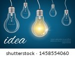 bulbs idea background.... | Shutterstock .eps vector #1458554060
