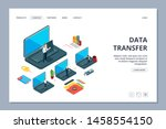 data transfer landing page.... | Shutterstock .eps vector #1458554150
