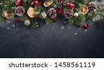 festive christmas greeting...   Shutterstock . vector #1458561119