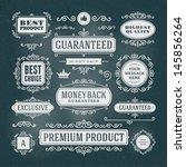 vector vintage premium quality... | Shutterstock .eps vector #145856264