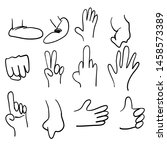 hand drawn cartoon legs and...   Shutterstock .eps vector #1458573389