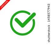 check mark icon vector logo... | Shutterstock .eps vector #1458577943