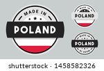 made in poland collection of... | Shutterstock .eps vector #1458582326
