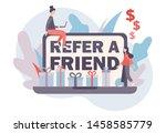 refer a friend concept. flat...