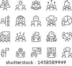 set of meeting icons  such as... | Shutterstock .eps vector #1458589949