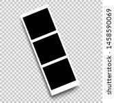 photo frame template design.... | Shutterstock . vector #1458590069