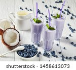 Blueberry Frothy Milkshake With ...