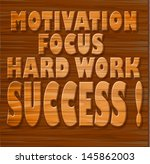motivation  focus  hard work ... | Shutterstock . vector #145862003