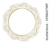 vector floral vintage frame on... | Shutterstock .eps vector #1458637589