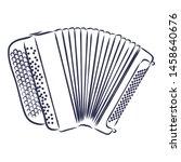 accordion brayan music... | Shutterstock .eps vector #1458640676