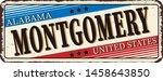 welcome to montgomery alabama... | Shutterstock .eps vector #1458643850