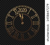 New Year\'s Clock With A Roman...