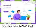 vector illustration mail...   Shutterstock .eps vector #1458653669