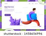 vector illustration mail... | Shutterstock .eps vector #1458656996