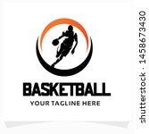 basketball sport logo design... | Shutterstock .eps vector #1458673430