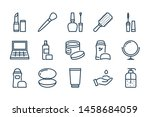 beauty line icons. vector... | Shutterstock .eps vector #1458684059
