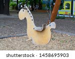 swing baby horse wooden vintage | Shutterstock . vector #1458695903