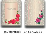 set of two wedding... | Shutterstock .eps vector #1458712376