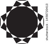 clock dial circular honeycomb... | Shutterstock .eps vector #1458720413