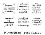 set of calligraphy positive... | Shutterstock .eps vector #1458723170