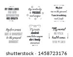 set of calligraphy positive... | Shutterstock .eps vector #1458723176