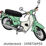 vintage retro motorcycle or... | Shutterstock .eps vector #1458726953