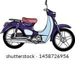 vintage retro motorcycle or... | Shutterstock .eps vector #1458726956