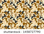 military camouflage pattern ...   Shutterstock .eps vector #1458727790