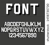 sport style font  uppercase... | Shutterstock .eps vector #1458730730