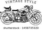 outline or line art vintage... | Shutterstock .eps vector #1458735320