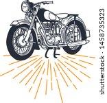 outline or line art vintage... | Shutterstock .eps vector #1458735323