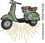 vintage scooter motorbike logo... | Shutterstock .eps vector #1458746126