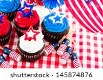 July 4th Picnic With Patriotic...