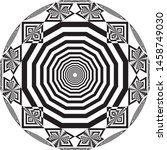 clock dial circular honeycomb... | Shutterstock .eps vector #1458749030