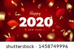 happy 2020 new year banner... | Shutterstock .eps vector #1458749996